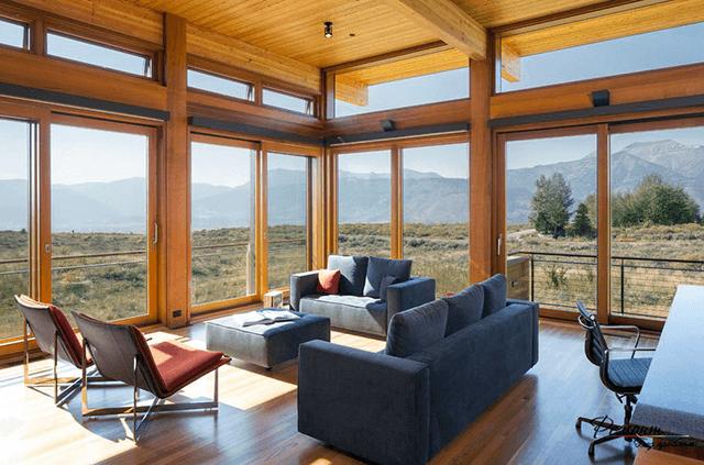 Панорамні дерев'яні вікна