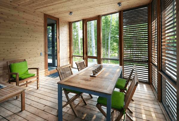 Дерев'яні вікна для тераси