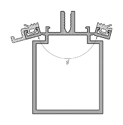 Поворот конструкції на ригелях