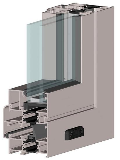 Конструкція дверей системи ALT W62