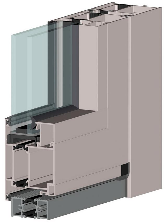 Конструкція вікон системи ALT W62
