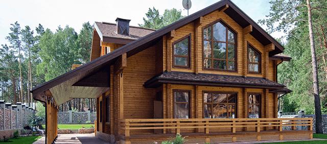 Дерев'яні вікна для котеджу