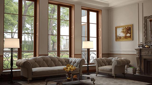 Дерев'яні вікна з двокамерним склопакетом
