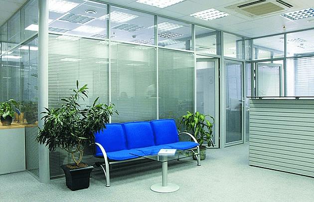Офісні алюмінієві перегородки ALT-110