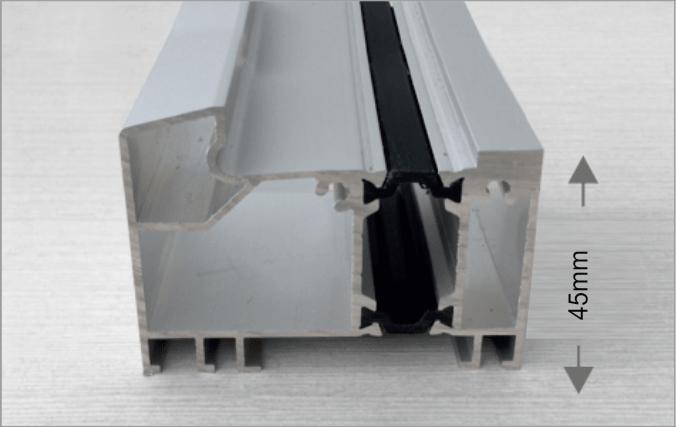 поріг алюмінієвий з термовставкою
