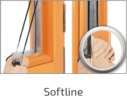 стиль дерев'яного вікна softline