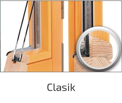стиль дерев'яного вікна clasik