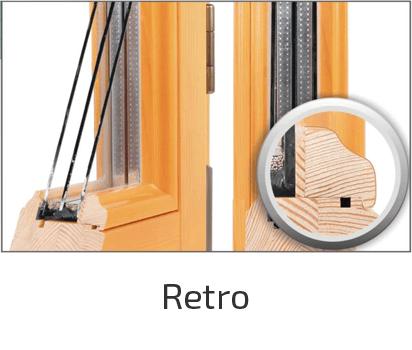 стиль дерев'яного вікна retro
