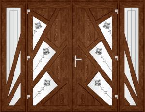 Двері PERFECT ПВХ 63.2.1 (SF)