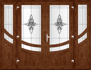 Двері PERFECT ПВХ 72-1 (SF)