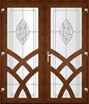 Двері PERFECT ПВХ 92-2 (SF)