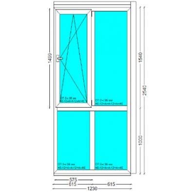 Вікно, PERFECT Tytanium W 6-к, 2540x1230
