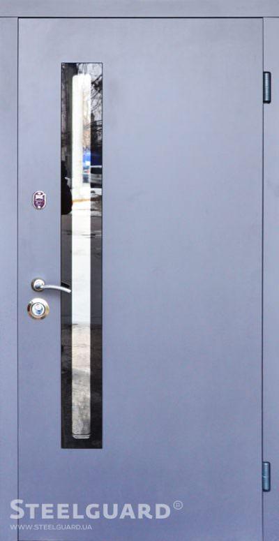 Вхідні двері Steelguard AV-1 Antracyt Glass
