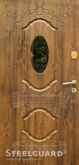 Вхідні двері Steelguard Sangria Glass