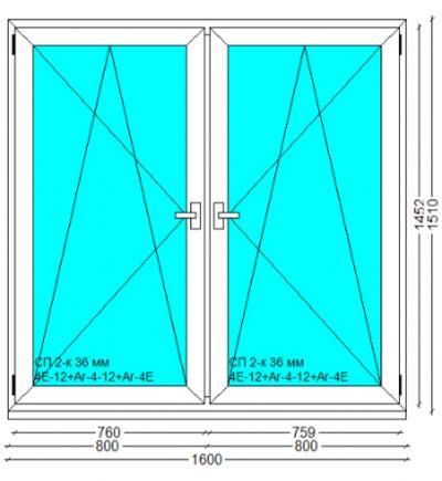 Вікно, PERFECT Tytanium W 6-к, 1510x1600