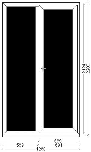 Вікно, ВК00249282 , Veka 70, Болотний Дуб зовн, 2 200*1 280